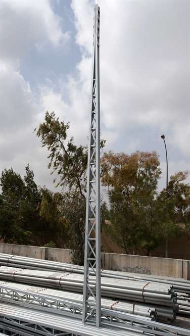 High Tension Power Transmission Towers Arabian Steel